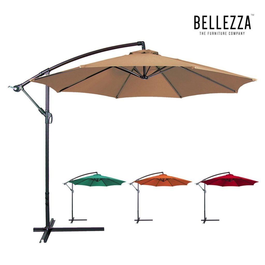 best cantilever umbrella best offset umbrella reviews outsidemodern. Black Bedroom Furniture Sets. Home Design Ideas
