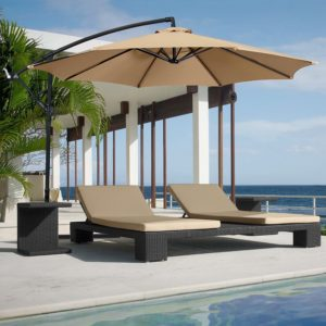 Guide Weighing Down An Offset Cantilever Umbrella Outsidemodern Aosom Outsunny 4 Piece Patio Base Weight