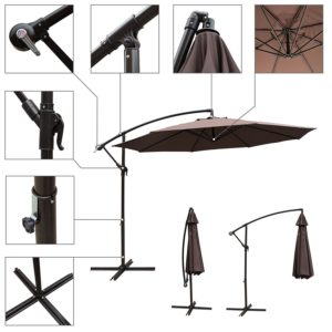 Cobana Cantilever Umbrella With Close-Ups