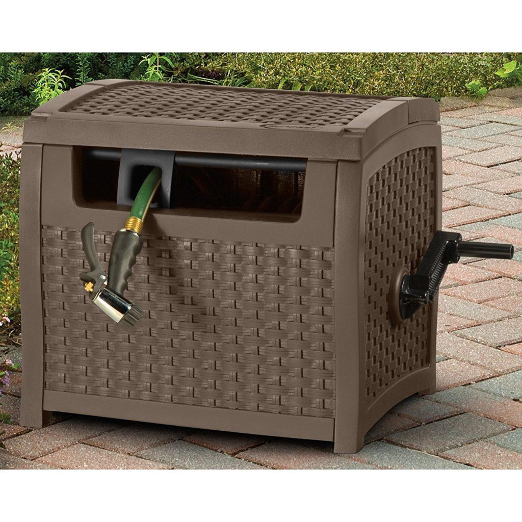 suncast ptw175 mocha wicker 175foot capacity hose reel - Garden Hose Reels