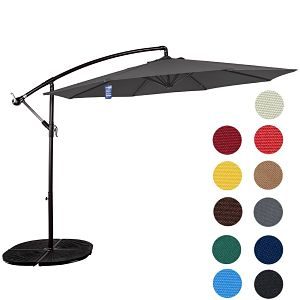 Sundale Outdoor 10ft Offset Umbrella Gray