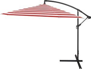 Trademark Innovations Cantilever Umbrella in Red Stripe