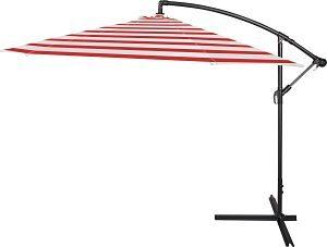Trademark Innovations Cantilever Umbrella in Red Stripe