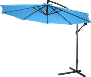 10' Deluxe Polyester Offset Patio Umbrella by Trademark Innovations