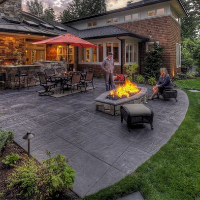 Concrete Patio. Source: Pinterest