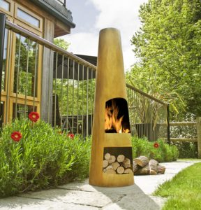One of our picks for the best chiminea to buy!