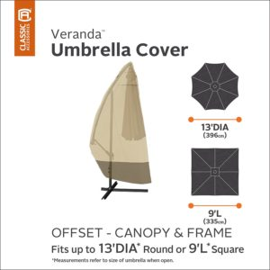 Classic Accessories Veranda Offset Umbrella Cover Dimensions