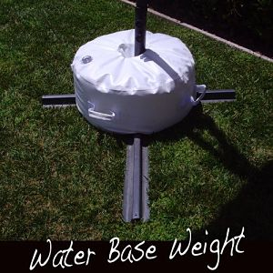 Closeup of Offset Umbrella Base Stand Weight