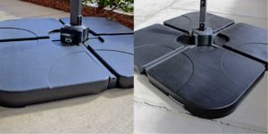 Coolaroo Cantilever Umbrella Base Weight Detail