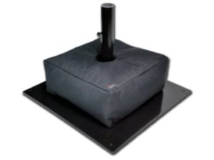 "Close up of Gravipod 14""x14"" Square Cantilever Umbrella Weighted Base"