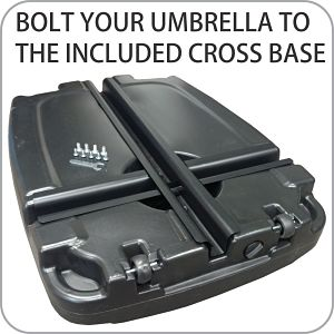 Under side of EasyGoProducts Cantilever Umbrella Base