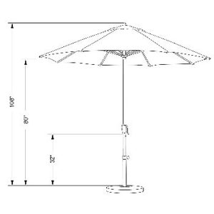 California Umbrella 9ft Dimensions