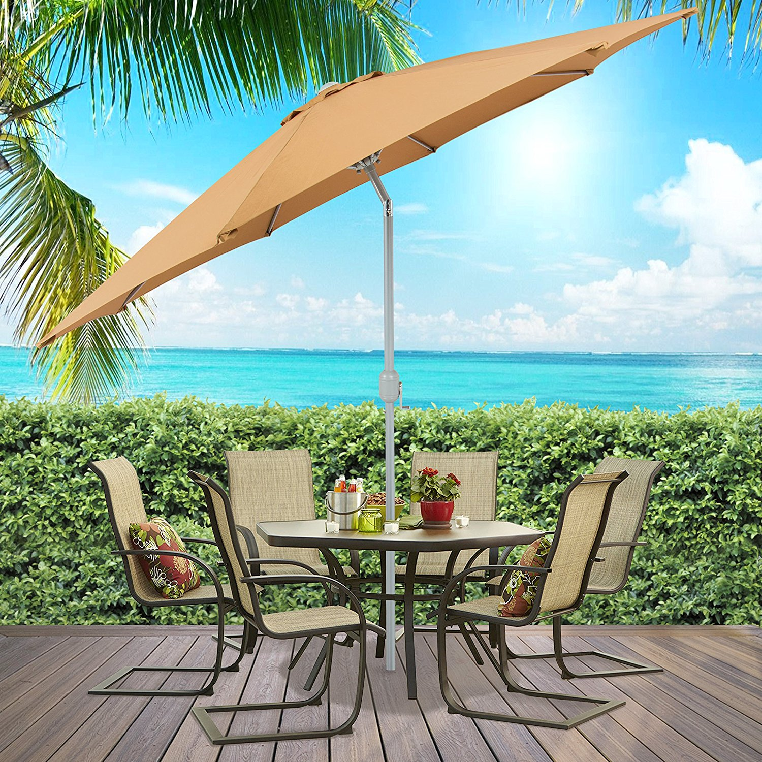 wind spun umbrellas ft offset resistantet coral canopy umbrella push windproof blue cantilever coast commercial button poly royal tilt with resistant patio rectangular