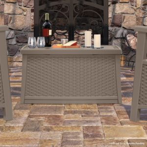 Suncast Elements Coffee Table in Taupe
