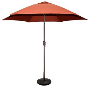 Tropishade 9 Ft Bronze Aluminum Market Umbrella With Rust Polyester Cover