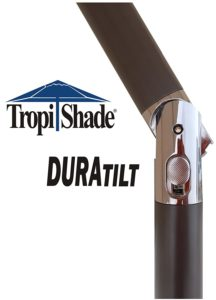 TropiShade Market Umbrella Tilt Mechanism Close Up