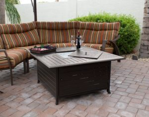 The Best Fire Pit: AZ Patio Heaters (Shown Here In Aluminum)