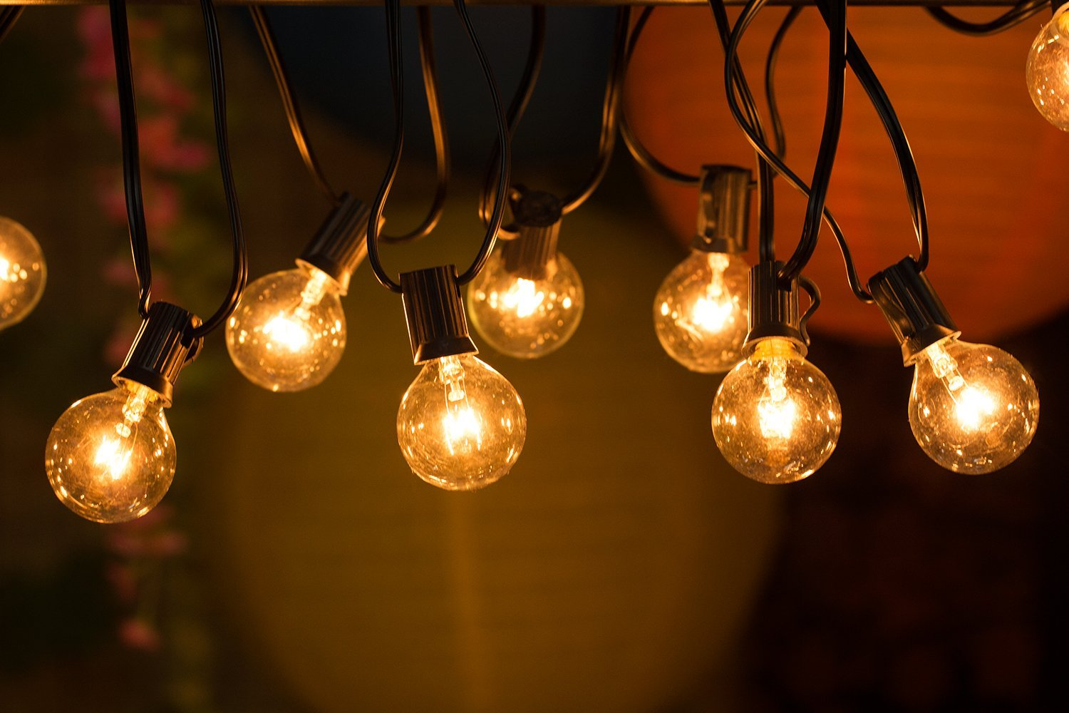 Globe Light String Outdoor Best outdoor string lights for the patio and the garden outsidemodern workwithnaturefo