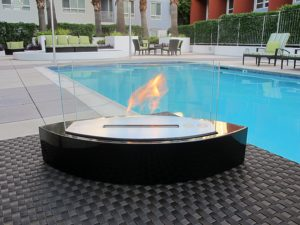 Ethanol Fireplace By The Pool