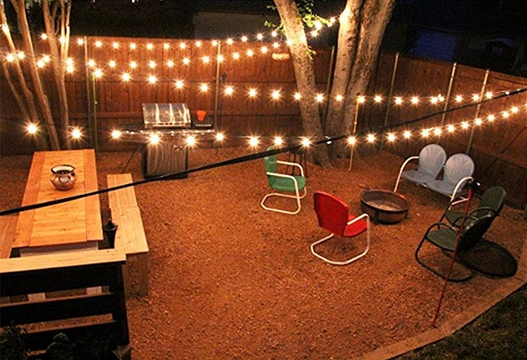 Best Outdoor String Lights for the Patio and the Garden ... on String Lights Backyard Ideas id=51654
