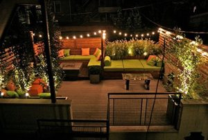Delightful Lampat Patio Lights In A Modern Setting
