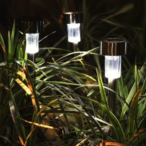 OakLeaf Stainless Solar Path Lights