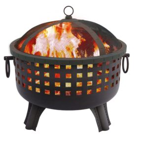 A Black-Painted Steel Fire Pit