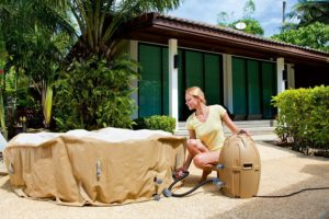 Inflating A Portable Hot Tub