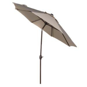 Abba Patio 9u2032 Sunbrella Fabric Aluminum Patio Umbrella With Auto Tilt And  Crank, 8 Ribs, Beige