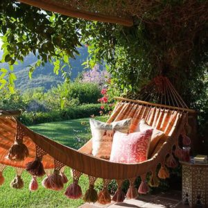 bed hammock pinterest 300x300 jpg beautiful fringe hammocks  macrame crochet the best backyard      rh   outsidemodern