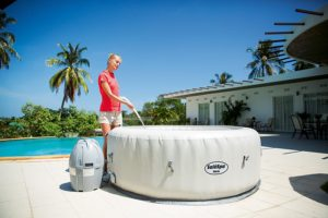 Filling a Portable Spa