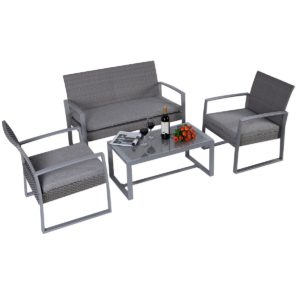 Stainless Steel Framed Patio Set by Giantex