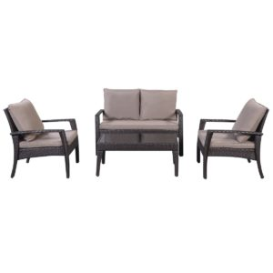 Giantex 4 Piece Steel Patio Furniture Set