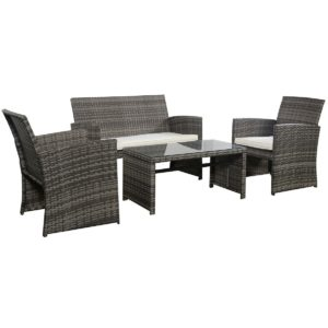 GoPlus Outdoor 4 Piece Patio Furniture Set