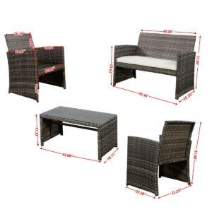 Goplus Outdoor Furniture Set Dimensions