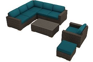 Harmonia Living Arden 8 Piece Sectional Furniture Set