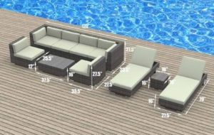 Ibiza Patio Set Dimensions