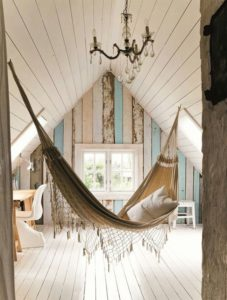 Great A Beautiful Indoor Hammock. Source: Pinterest