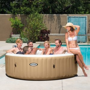 intex blow up hot tub pure spa bliss outsidemodern. Black Bedroom Furniture Sets. Home Design Ideas
