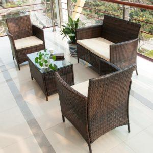 Elegant Merax 4 Piece Outdoor Furniture Set
