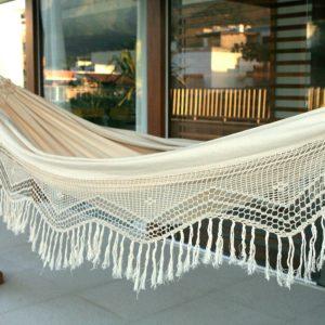 Novica Double Cotton Hammock, Manaus Majesty