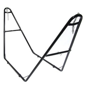 Sunnydaze Universal Multi-Use Steel Hammock Stand, Fits Hammocks 9 to 14 Feet Long, 440 Pound Capacity