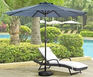 Ulax Furniture 9' Market Umbrella with Sunbrella Fabric