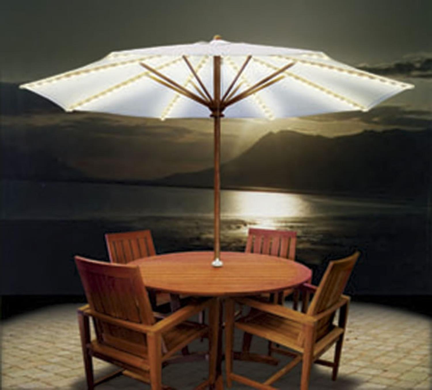 Outdoor Umbrella With Lights Top five best umbrella lights patio umbrella light outsidemodern workwithnaturefo
