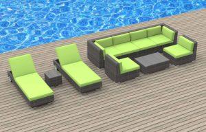 Urban Furnishing Ibiza 10 Piece Modern Outdoor Patio Set