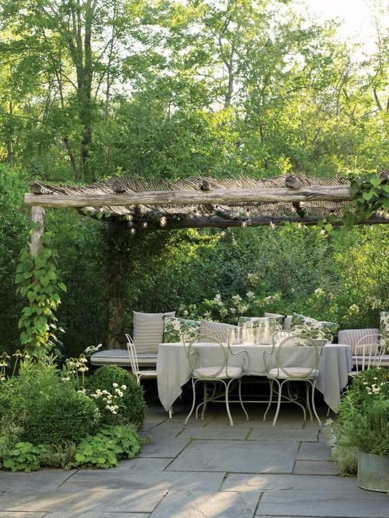 Another Rustic Pergola Encrusted with Vines. Source: Stephanie Lynn
