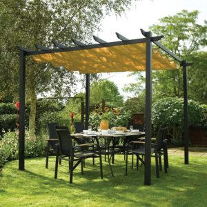 Bosmere Rowlinson Latina Free-Standing Pergola. The Best Metal Pergola Kits Available.