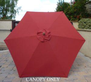 Superb Formosa 9u0027 6 Rib Replacement Umbrella Canopy Brick Red