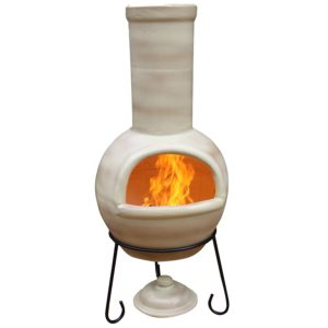 Clay Chiminea Outdoor Fireplace