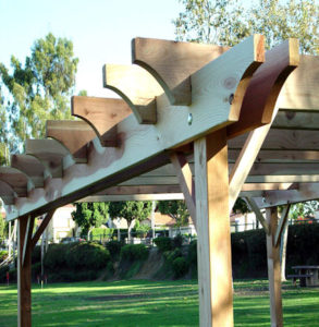 Redwood Pergola by GardenCraft